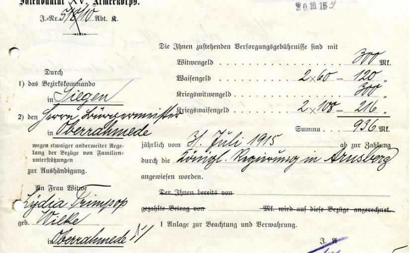Ernst Trimpop, † 30.07.1915